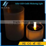 Yellow Solar LED Tea Candle Light for Wedding Decoration