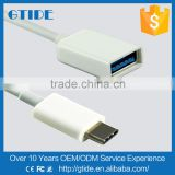New Design USB C Type Connector OTG Data Cable,USB 3.1 Type C Type-C to USB Female Adapter Cable(15mm/customized lengh)