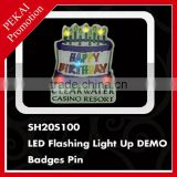 Happy Birthday plastic badges pin