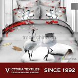 pure natural cotton reactive printed twill comforter sheets set/4pcs bedding sets 2015 NEW