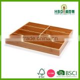 High quality wholesale Wooden Bamboo cutlery tray, flatware tray, flatware organizer