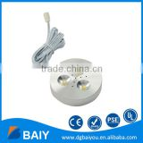 3W LED Mini Puck Light with Switch 3- Puck Light Connector is available from Chinese Manufacturer