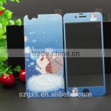cartoon mobile phone front and back protective case beautiful colored tempered glass screen protector