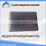 voice recorder box usb telephone recorder 2 lines voice recorder support FSK and DTMF single