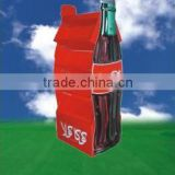Customized Cardboard Display Stand For Wine Bottle/for coca cola