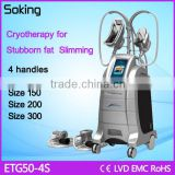 Fast belly fat reduce cryotherapy machine for sale with four cryo handles