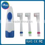 Electric Massage Toothbrush With 3 Brush Heads Vibration Massager