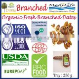 Organic Fresh Branched Dates. Organic Dates On The Branch. Branched Dates Organic 250g Tray