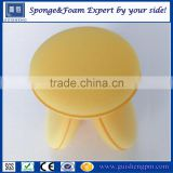 Promotional cheap car wax sponge , customized logo car wax applicator sponge