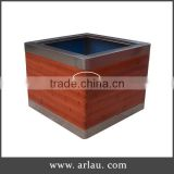 Best selling wood planter/ wood home flower pot/ wooden gardening pots for trees and flower