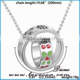Merry Christmas jewelry gift snowflake Christmas double ring necklace ,Christmas tree neckalce