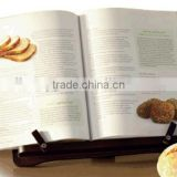 New design Adjustable Wooden hands free reading book holder MDF cookbook stand