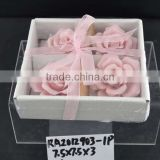factory direct ceramic figurine with flower design for Valentine's Day & Wedding