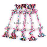 Small spot wholesale selling pet dog rope toys 16cm double knot woven cotton rope molar tooth