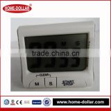 White plastic timer digital with fold stand and magnetic fixing Mini Digital Timer for Kitchen loud beep loud beep kitchen timer