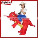 Children carnival mascot red animal inflatable dinosaur costume