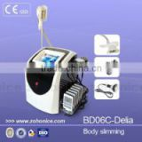 BD06C CE approved Multifunctional slimming device Vacuum+Auto roller+RF+cavitation+cyro machine