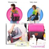 Professional Multi-Function Mummy Bag Travel Booster Seat Diaper Bag Backpack for Baby