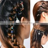African Braids Coin Feather Colorful Beads Hairpin Braids Pigtails Hair Accessory