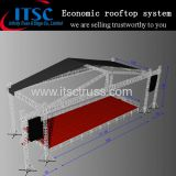 Economic rooftop truss system with speaker wings for big events
