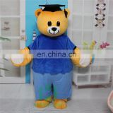 HI EN71 cutomized mascot costume with super plush soft,graduction bear mascot costume for adult size