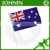 hot sale 100% polyester hanging plastic flag sticks