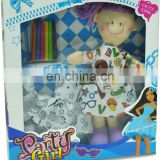 DIY paiting dolls/DIY satin dolls/Diy washable dolls/coloring your own cloth dolls/painting toys