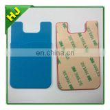Silicon cell phone pouch,3M sticker silicone mobile phone pouch