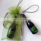 3D bottle shaped phone strap,phone charm