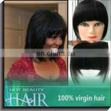 Clip in Hair Extensions Fringe Bang for Black Women