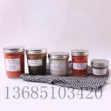 New 125ML Caviar Glass Bottle, Jam Bottle, Sauce Bottle, Chili Sauce Bottle, Honey Bottle and Bird's Nest Bottle