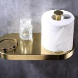 Oem Polished Brass Toilet Paper Holder