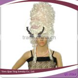 white tall carnival synthetic wig theme party