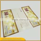 Quality Custom Vouchers, Custom Scratch Off Lottery Ticket, Paper ID Card, Custom Scratch Card, China Printing Factory