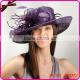 2012 New Design Purple Sinamay Wedding Hat                                                                         Quality Choice