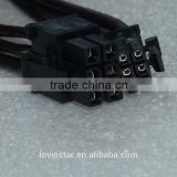 4 core armoured cable Mac G5/Mac Pro mini 6-Pin to PCI-E 6PIN Graphics Video Card Power Cable Cord