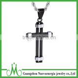 Trends Byzantine Style Jewelry Stainless Steel Cross Pendant Necklace Mens Womens Chain Necklace