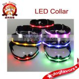 Silicone LED Lightweight Flashing Lights Dog Collar Nylon