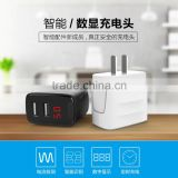 Joyroom 2.4A Digital Display Screen Double USB Ports Charger For IOS+Android Smarter Travel Charger For iPhone TB-0237