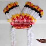 New Products 2016 Indian Feather Headdress And Carnival Feather Headdress For Party Supplies