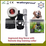 rechargeable and waterproof 803 electric dog fence & 300 meter remote dog training collar