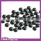 Black Hotfix Iron-on Half Round Metal Dome Stud
