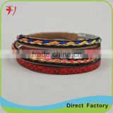 New Products for Men Braided Genuine Leather Punk Bracelet