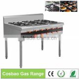 Restaurant Equipment Counter Top 4 Burner Cooker Gas Range With 4-8 Burners/stainless steel gas stove