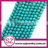 10mm cutting turquoise semi precious gemstones beads                                                                         Quality Choice