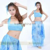 turquoise tie-dye belly dance skirt belly dance skirt,belly dance clothing,belly dancewear