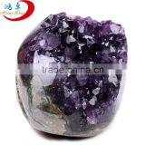 wholesale small parts of natural brazil amethyst geode/rock quartz amethyst crystal stone for gift/ home decoration
