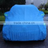 sun protection hail snow proof car parking cover in blue color