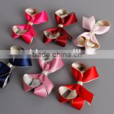 Contrast color twisted bow hair clip for children,metallic colors hair bow                                                                         Quality Choice