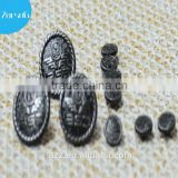 plating zinc alloy metal red antique copper screw jeans button for denims